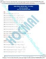 Bài tập phương pháp đặt ẩn phụ giải phương trình logarit thầy nguyễn bá tuấn