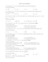 Trắc nghiệm toán lớp 12 ôn thi  (9)