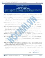 Bài tập phương trình mặt cầu thầy nguyễn bá tuấn