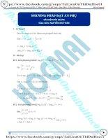 Phương pháp đặt ẩn phụ giải phương trình logarit thầy nguyễn bá tuấn