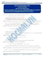 bài tập phương trình đường thẳng thầy nguyễn bá tuấn