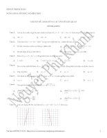Bài tạp trức nghiệm hàm số và các vấn đề lien quan