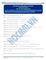 Bài tập giải phương trình trên tập số phức