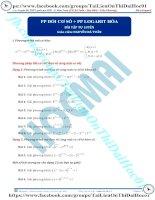 Bài tập phương pháp đổi cơ số logarit hóa thầy nguyễn bá tuấn