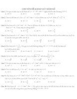 Trắc nghiệm toán lớp 12 ôn thi  (3)