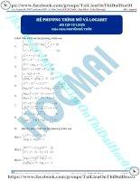 Bài tập hệ phương trình mũ và logarit thầy nguyễn bá tuấn
