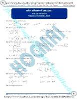 Bài tập hàm số mũ và logarit thầy nguyễn bá tuấn