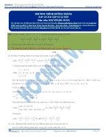 bài tập phương trình đường thẳng có đáp án thầy nguyễn bá tuấn