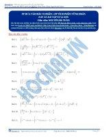 Bài tập phương pháp tích phân từng phần có đáp án thầy nguyễn bá tuấn
