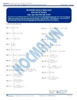 Bài tập tích phân hàm lượng giác thầy nguyễn bá tuấn