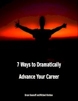 7 Ways to Dramatically Advance Your Career