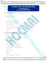 Phương pháp đổi cơ số và logarit hóa thầy nguyễn bá tuấn