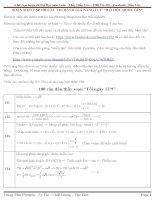Lời giải tập 500 câu trắc nghiệm toán (100 câu đầu)