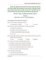 650 câu TRẮC NGHIỆM SINH học (theo từng chương) lớp 10   sinh học 10   phạm thị kim liên