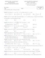 Bộ đề trắc nghiệm kiểm tra 1 tiết chương 1 giải tích 12 Khảo sát hàm số và vẽ đồ thị