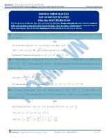 Bài tập phương trình mặt cầu có đáp án thầy nguyễn bá tuấn