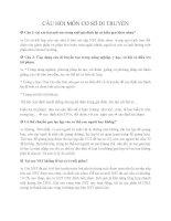Câu hỏi ôn tập môn Cơ sở DI TRUYỀN