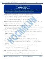 Bài tập phương trình mặt phẳng thầy nguyễn bá tuấn