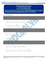 Bài tập tích phân hàm lượng giác có đáp án thầy nguyễn bá tuấn