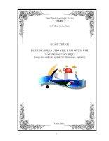 Giáo trình phương pháp cho trẻ làm quen với tác phẩm văn học (dùng cho sinh viên ngành GD mầm non – hệ từ xa) phần 1