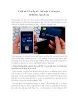 Cách xử lý khi bị mất thẻ hoặc lộ thông tin tài khoản ngân hàng