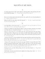 Ngân hàng câu hỏi và đáp án môn Nguyên lý kế toán topica