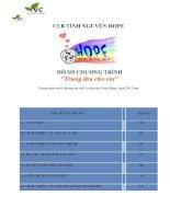 Hồ sơ chương trình trung thu cho em t9 2015