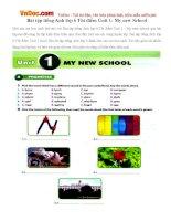 Bài tập tiếng Anh lớp 6 Thí điểm Unit 1: My new School