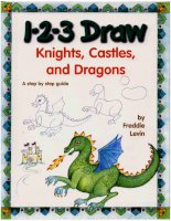 123 draw knights, castles, and dragons