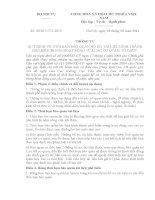 THÔNG TƯ 09/2011/TT-BNV QUY ĐỊNH VỀ THỜI HẠN BẢO QUẢN HỒ SƠ, TÀI LIỆU HÌNH THÀNH PHỔ BIẾN TRONG HOẠT ĐỘNG CỦA CÁC CƠ QUAN, TỔ CHỨC