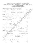 225 câu trắc nghiệm phương trình lượng giác toán lớp 11
