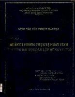Luận văn Quản lý phòng thực tập máy tính trường Đại học dân lập Hùng Vương