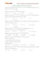Bài tập trắc nghiệm khảo sát hàm số (Có đáp án)