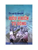giao trinh co so ly thuyet dieu khien tu dong