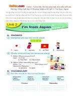 Bài tập Tiếng Anh lớp 4 Chương trình mới Unit 2: I'm from Japan