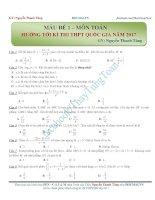 15 đề thi thử môn toán trắc nghiệm THPTQG 2017