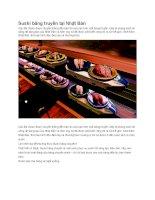 Giới thiệu sushi băng truyền tại nhật bản