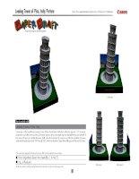 Mô hình tháp nghiêng Pisa. P2