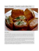 Giới thiệu sushi inari zushi