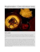 Ẩm thực Nhật Bản  Cơm sốt khoai lang mugitorodon