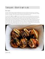 Ẩm thực nhật bản  bánh bạch tuộc takoyaki