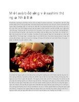 Giới thiệu  sashimi thịt ngựa nhật bản