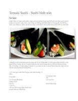Giới thiệu temaki sushi