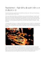Giới thiệu nghệ thuật sushi trên cơ thể trinh nữ