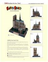 Mô hình Notre Dame de Paris, France. P2