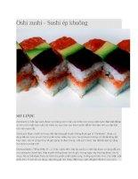 Giới thiệu oshi zushi