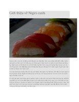 Giới thiệu món sushi nigiri