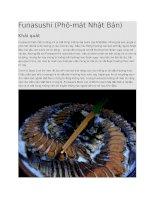 Giới thiệu món funasushi
