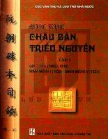 Mục lục châu bản triều nguyễn (tập 1) phần 1   NXB văn hóa thông tin