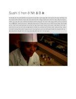 Giới thiệu sushi tí hon ở nhật bản